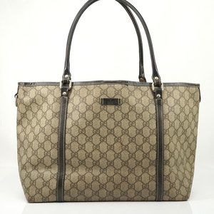 Auth Gucci Gg Hand Bag Brown Vintage #1565G13